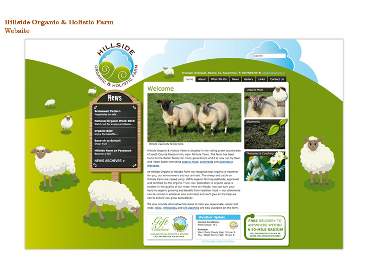 Hillside Organic & Holistic Farm, Content managed website and branding